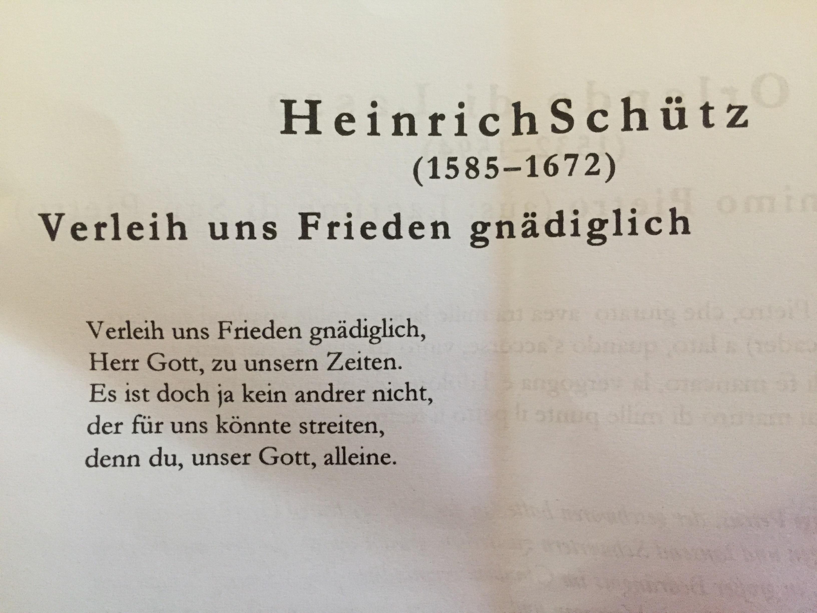 Kammerchor Univocale Konzert in der Reformationskirche am 21.7.2017